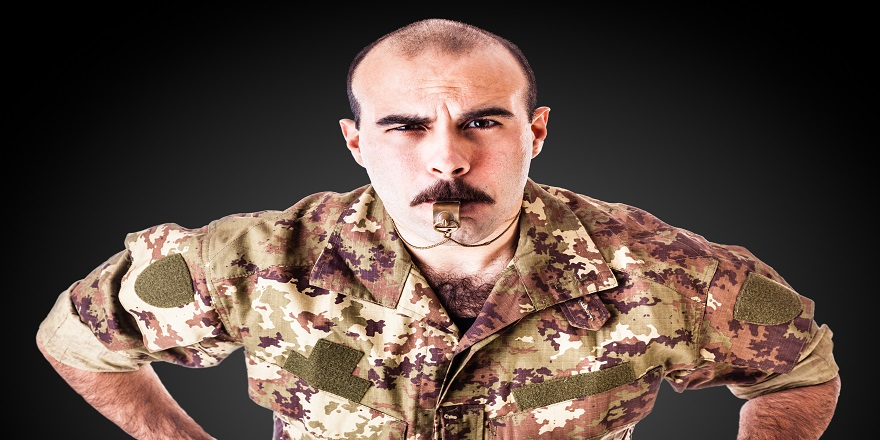 Military drill instructor